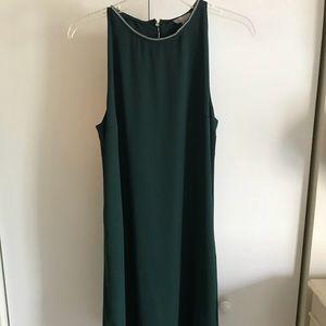 H&M Green Chiffon Asymmetrical